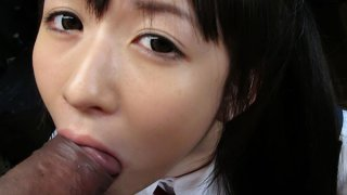 Teeny queen Ai Uehara gives a nice blowjob