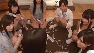 Naughty teenage Asian skanks have one hot slumber party