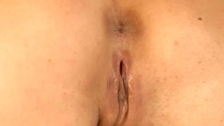 A dildo is a great help for pleasing the quim of kinky black head Eve Angel